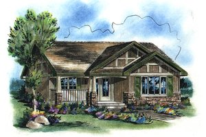 House Blueprint - Craftsman Exterior - Front Elevation Plan #18-1042