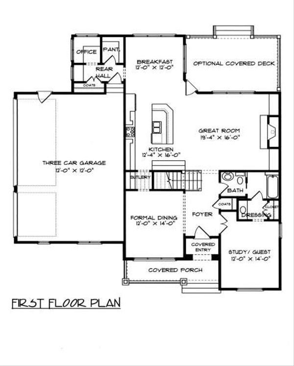 Tudor Floor Plan - Main Floor Plan Plan #413-139