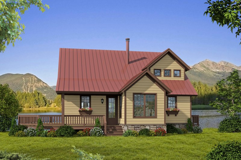 Dream House Plan - Cabin Exterior - Front Elevation Plan #932-344