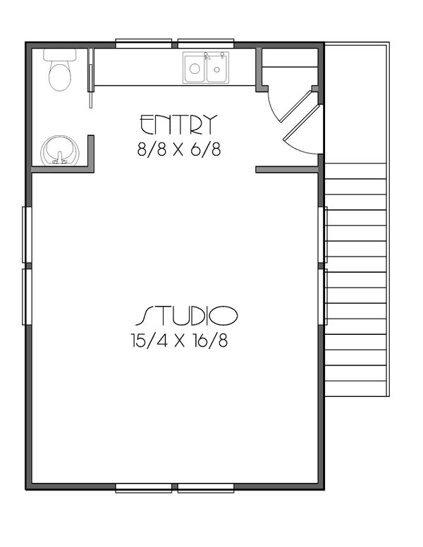 Prairie Floor Plan - Upper Floor Plan #423-54
