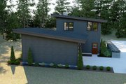 Contemporary Style House Plan - 3 Beds 2.5 Baths 2102 Sq/Ft Plan #1070-14 Exterior - Rear Elevation