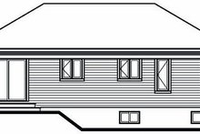 Cottage Exterior - Rear Elevation Plan #23-858