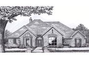 European Style House Plan - 3 Beds 2.5 Baths 2715 Sq/Ft Plan #310-861 Exterior - Front Elevation
