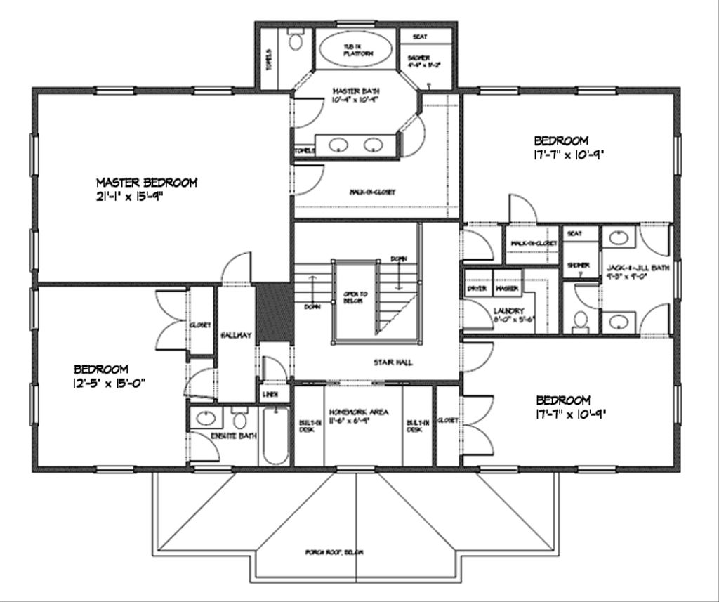 Classical Style House Plan 4 Beds 3 5