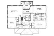 Classical Style House Plan - 4 Beds 3.5 Baths 3000 Sq/Ft Plan #477-7 Floor Plan - Upper Floor Plan
