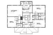 Classical Style House Plan - 4 Beds 3.5 Baths 3000 Sq/Ft Plan #477-7 Floor Plan - Upper Floor Plan