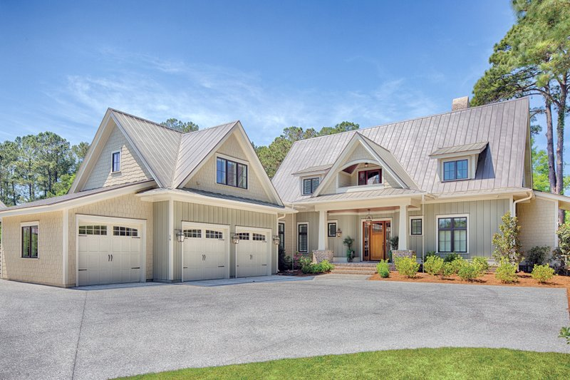 Home Plan - Farmhouse Exterior - Front Elevation Plan #928-10