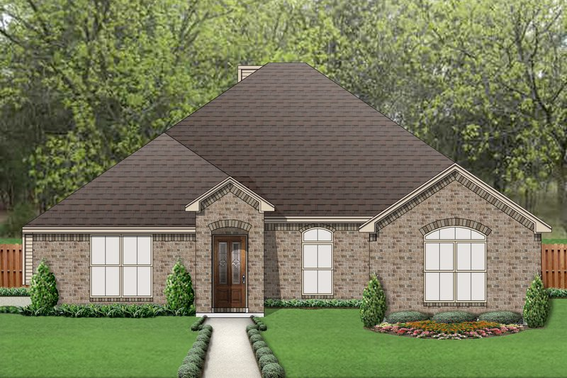Traditional Exterior - Front Elevation Plan #84-579 - Houseplans.com