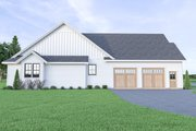 Contemporary Style House Plan - 3 Beds 3.5 Baths 2489 Sq/Ft Plan #1070-86 Exterior - Other Elevation