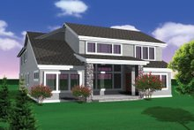 Dream House Plan - Traditional Exterior - Other Elevation Plan #70-1108