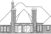 European Style House Plan - 3 Beds 2.5 Baths 2908 Sq/Ft Plan #310-278 Exterior - Rear Elevation