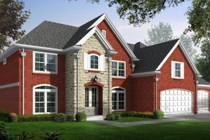 Traditional Exterior - Front Elevation Plan #81-13742