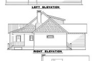 Country Style House Plan - 2 Beds 2 Baths 1294 Sq/Ft Plan #17-522 Exterior - Rear Elevation