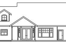 Craftsman Exterior - Rear Elevation Plan #124-453