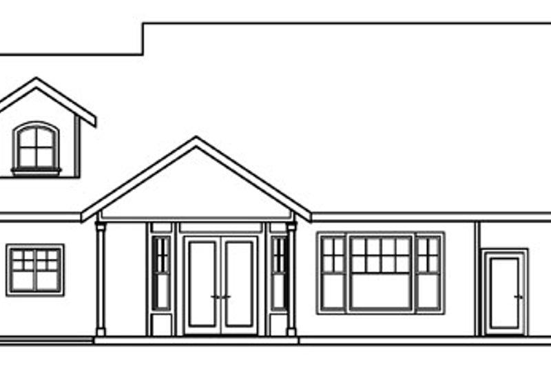 Craftsman Exterior - Rear Elevation Plan #124-453 - Houseplans.com