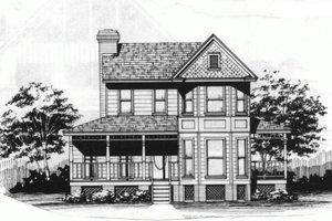 Victorian Exterior - Front Elevation Plan #10-228