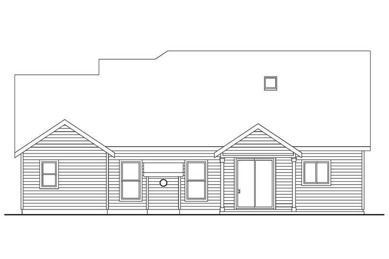 Craftsman Exterior - Rear Elevation Plan #124-676 - Houseplans.com