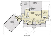 Farmhouse Style House Plan - 5 Beds 3.5 Baths 3190 Sq/Ft Plan #1070-23 Floor Plan - Main Floor Plan