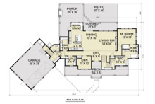 Farmhouse Floor Plan - Main Floor Plan Plan #1070-23