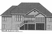 Traditional Style House Plan - 3 Beds 2 Baths 2419 Sq/Ft Plan #70-386 Exterior - Rear Elevation