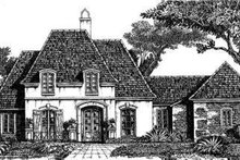 European Exterior - Front Elevation Plan #301-105
