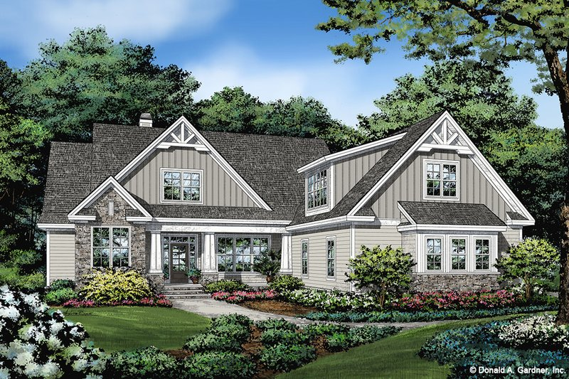 Architectural House Design - Craftsman Exterior - Front Elevation Plan #929-1110