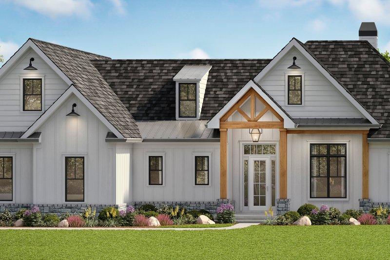 Home Plan - Farmhouse Exterior - Front Elevation Plan #54-389