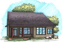 Dream House Plan - Craftsman Exterior - Rear Elevation Plan #70-1027