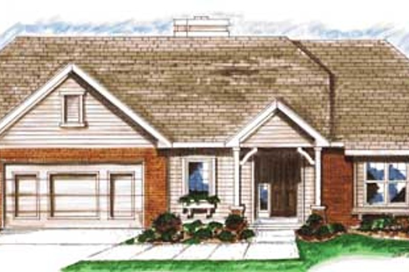 Traditional Exterior - Front Elevation Plan #20-1378 - Houseplans.com