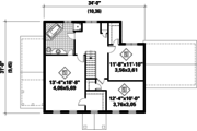 Colonial Style House Plan - 3 Beds 1 Baths 1939 Sq/Ft Plan #25-4761 Floor Plan - Upper Floor Plan