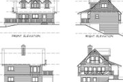 Country Style House Plan - 3 Beds 2 Baths 1365 Sq/Ft Plan #47-383 Exterior - Rear Elevation