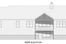 House Plan Design - Country Exterior - Rear Elevation Plan #932-382