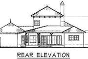 Colonial Style House Plan - 3 Beds 2.5 Baths 2371 Sq/Ft Plan #76-104 Exterior - Rear Elevation