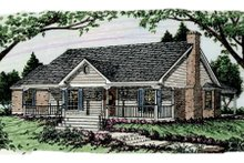 Country Exterior - Front Elevation Plan #406-148