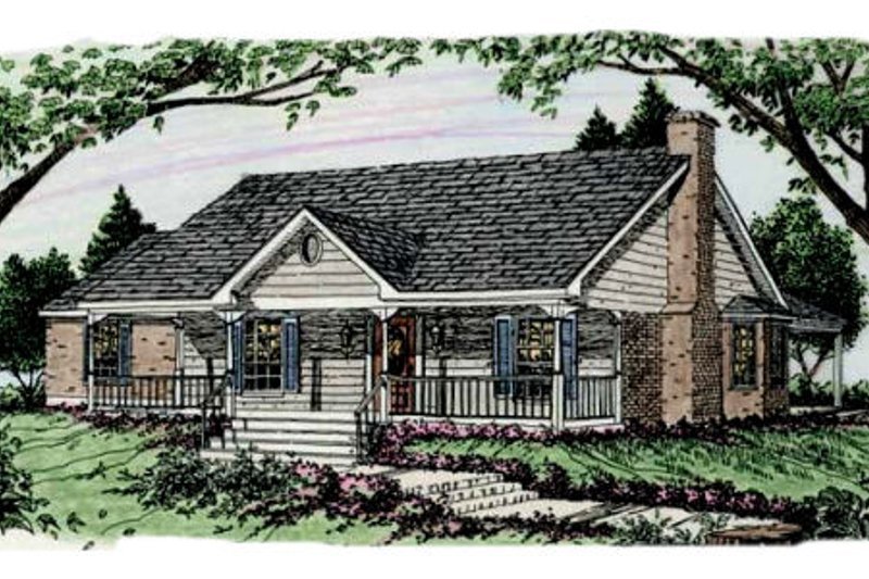 Dream House Plan - Country Exterior - Front Elevation Plan #406-148