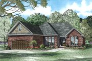 European Style House Plan - 3 Beds 2 Baths 1848 Sq/Ft Plan #17-2458 Exterior - Front Elevation
