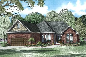 European Exterior - Front Elevation Plan #17-2458