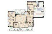 Traditional Style House Plan - 3 Beds 2 Baths 2355 Sq/Ft Plan #36-210 Floor Plan - Main Floor Plan
