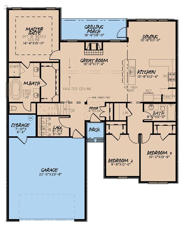 Traditional Floor Plan - Main Floor Plan Plan #923-145