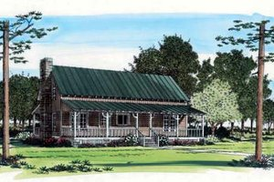 Southern Exterior - Front Elevation Plan #312-137