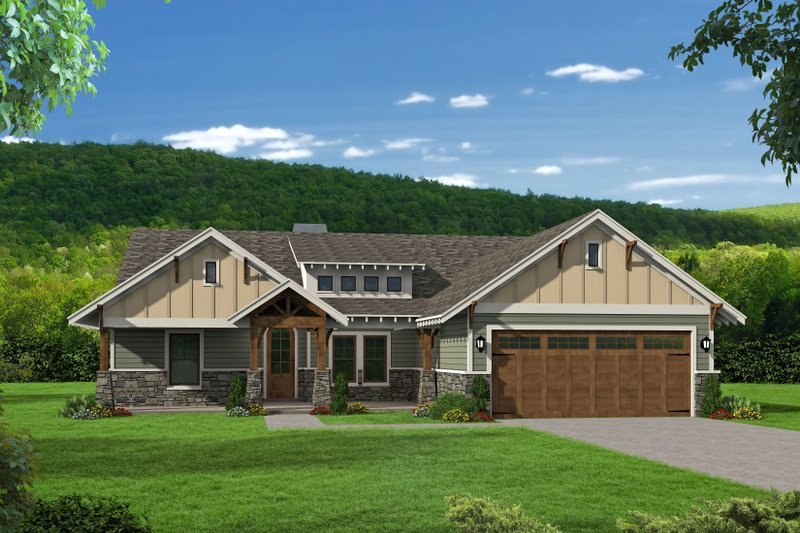 Architectural House Design - Country Exterior - Front Elevation Plan #932-138