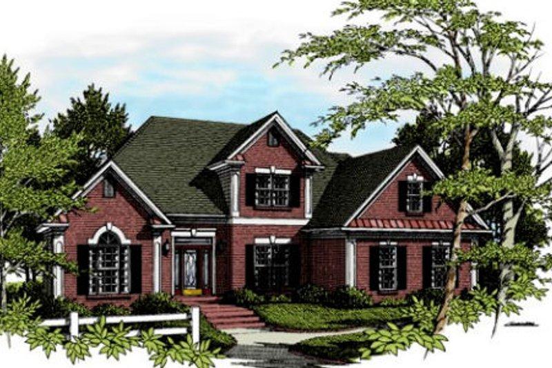 Dream House Plan - European Exterior - Front Elevation Plan #56-148