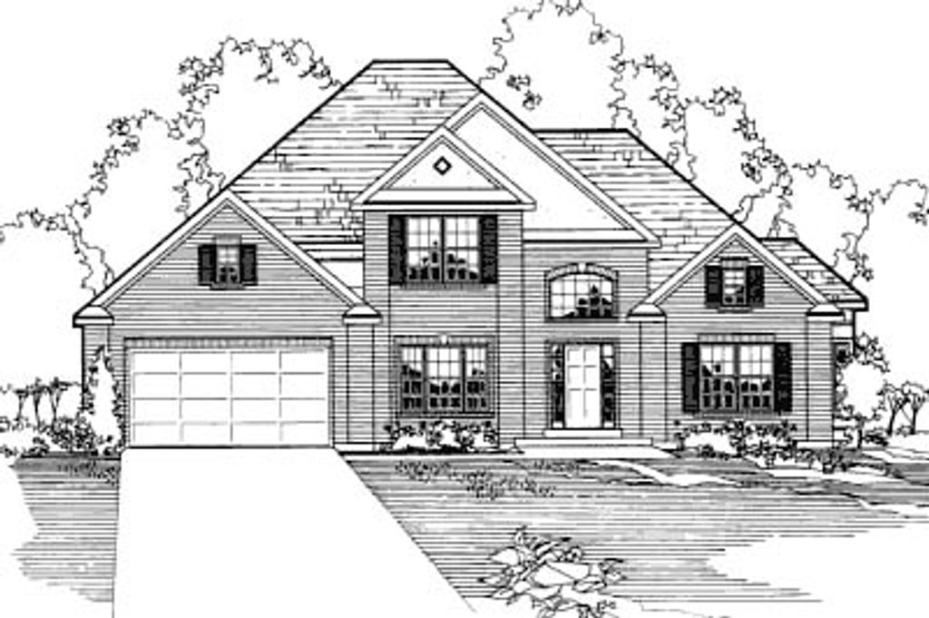 Traditional style house plan 3 beds 2 5 baths 2832 sq ft for Square feet ap style