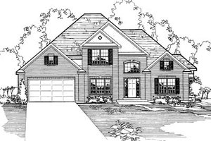 Traditional Exterior - Front Elevation Plan #31-107