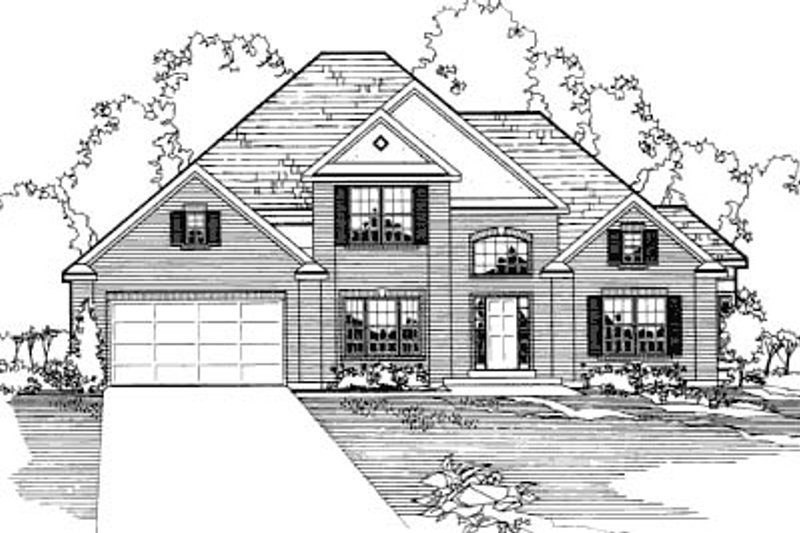 Traditional Exterior - Front Elevation Plan #31-107 - Houseplans.com