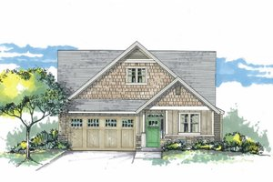 Architectural House Design - Craftsman Exterior - Front Elevation Plan #53-602