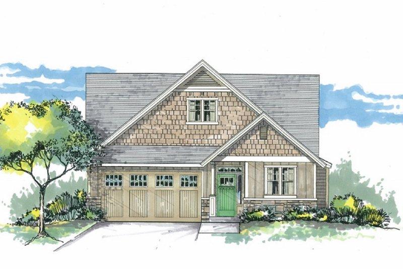 Architectural House Design - Craftsman Exterior - Front Elevation Plan #53-602
