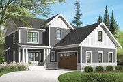 Traditional Style House Plan - 3 Beds 2.5 Baths 2422 Sq/Ft Plan #23-2557 Exterior - Front Elevation