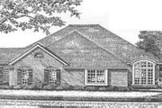 European Style House Plan - 3 Beds 2 Baths 3966 Sq/Ft Plan #310-472 Exterior - Front Elevation