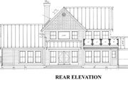 Farmhouse Style House Plan - 3 Beds 3.5 Baths 2604 Sq/Ft Plan #118-121 Exterior - Rear Elevation